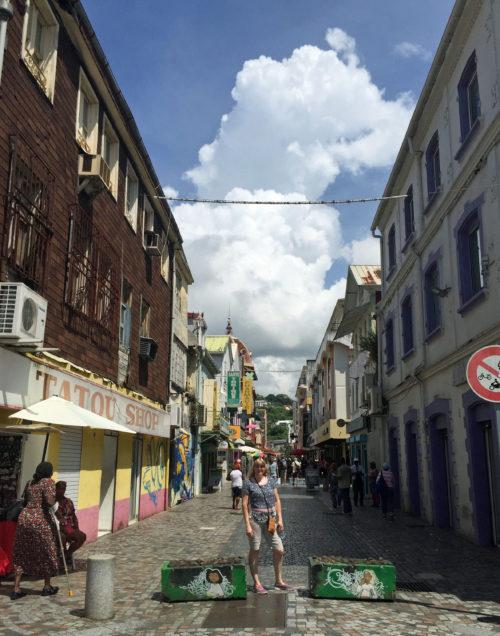 Street in Fort de France Martinique