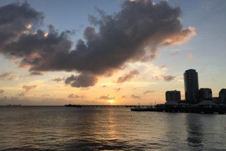 Sunset in Fort de France Martinique